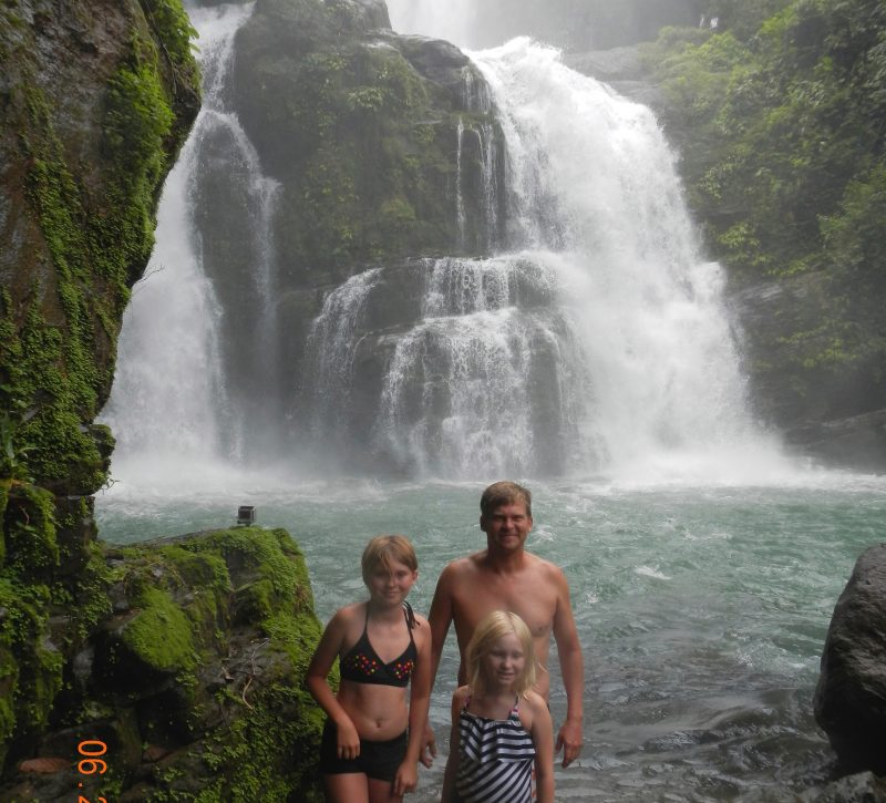 Costa Rica waterfalls and family vacation
