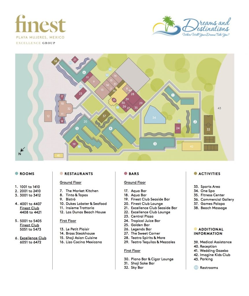 The Finest Playa Mujeres Resort Map