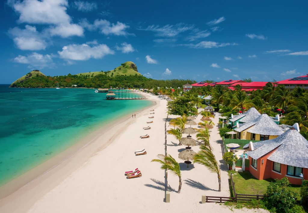 Sandals with best beach St Lucia