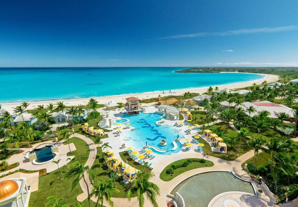 Exuma All Inclusive Resort - Sandals Emerald Bay aerial
