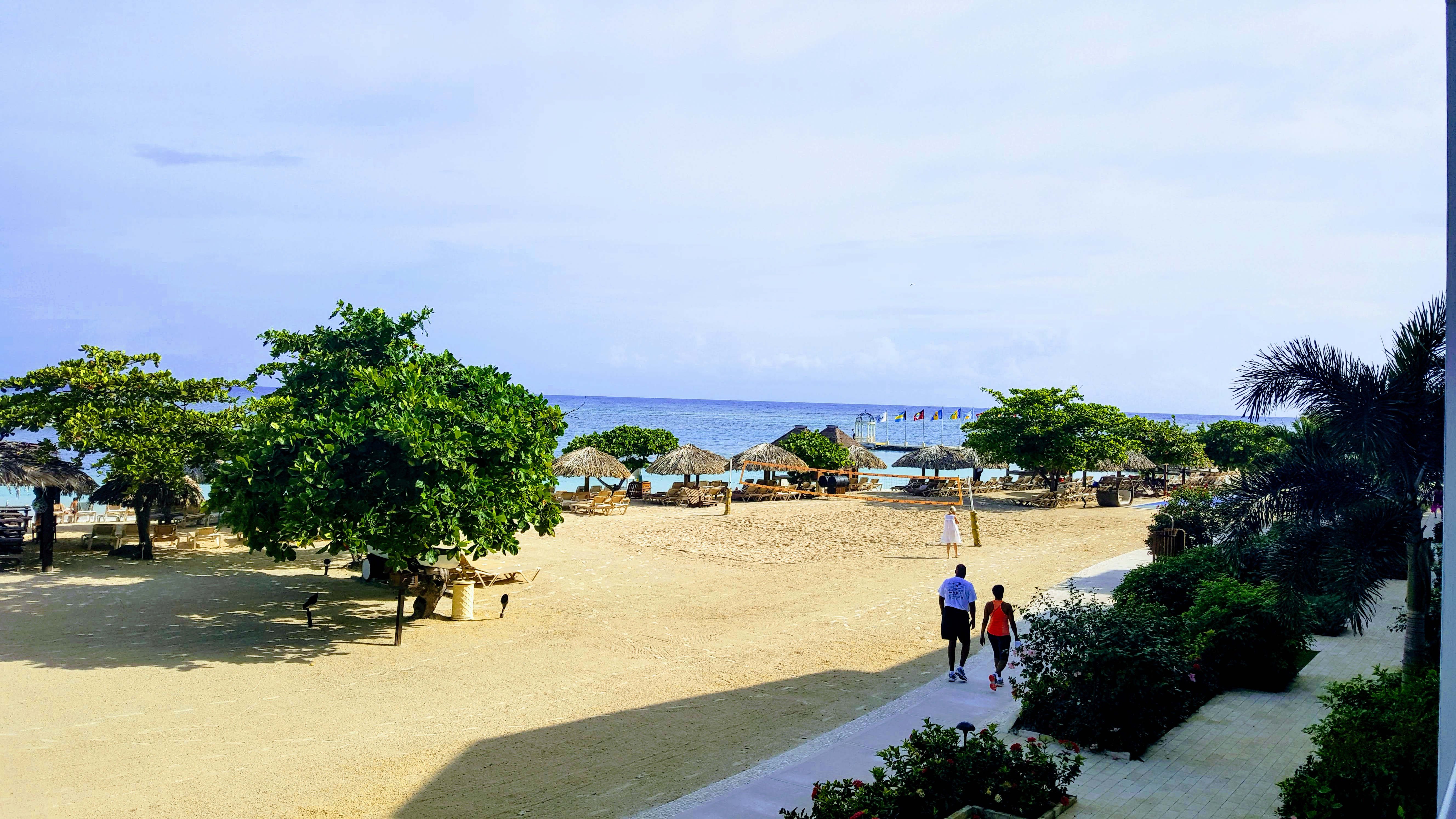 View of beach from Palms building Sandals Montego Bay